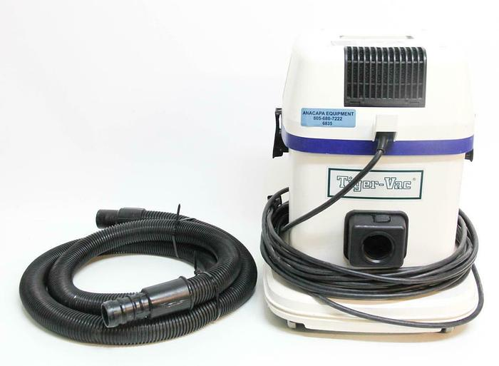 Used Tiger-Vac AS-5 Hepa Dry Only Industrial Vacuum With 9 ft Hose (6835)