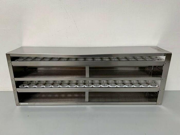 Used Argos R50102A Upright Freezer Drawer Rack for 50mL Tubes, Holds 102