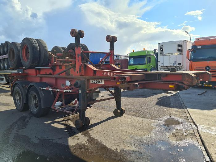 Used 1993 Paul POCK 20 Container chassis 20ft. / Steel suspension
