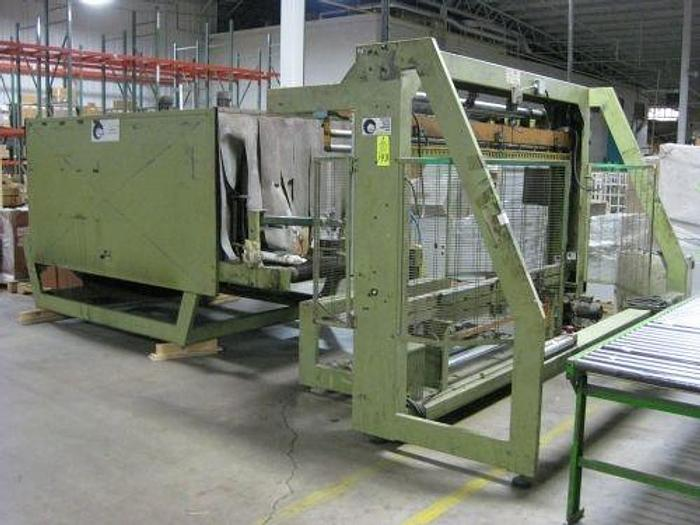 """Used COMIL SHINK WRAP FLOW WRAPPER MDL CB-250 60"""" WIDE X 30"""" TALL"""