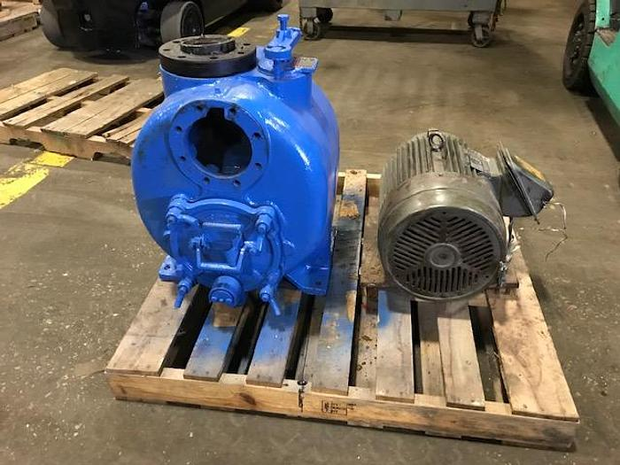 Used TRASH PUMP SELF PRIMING 25 HP MOTOR