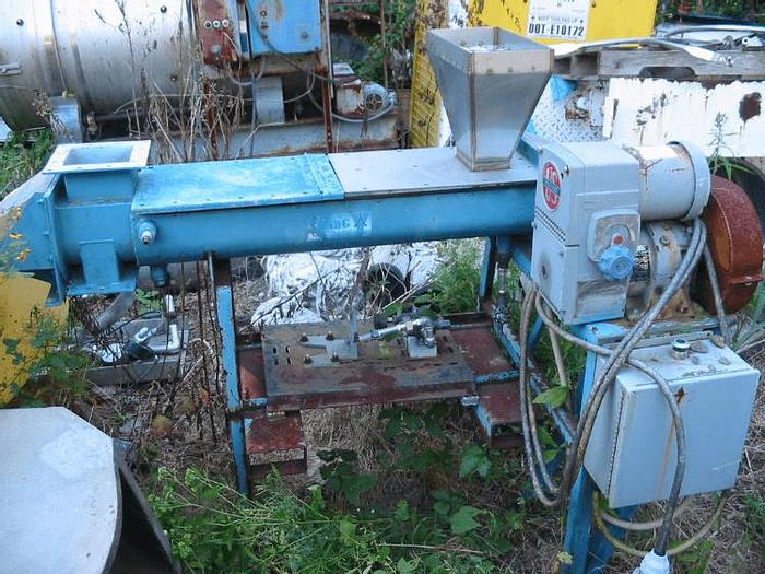 Used 10 in. X 48 in. YOUNG TWIN SHAFT CONTINUOUS MIXER – S/S (#8480)