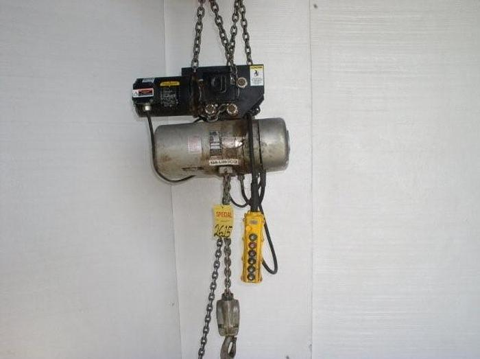 4,000 lb. Columbus McKinnon Model R Electric Hoist; Motorized Trolley