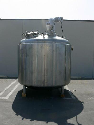 Used Feldmeier 4500 Liter 316L SS Jacketed Reactor w/ Agitator 30 PSI FV &100 PSI