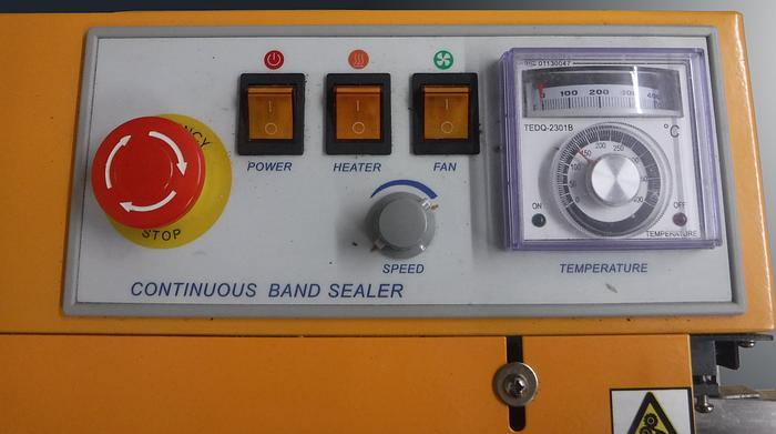 Used APOLO CONTINUOUS BAND SEALER, MODEL CBS-630