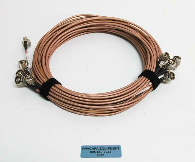 Used Thermax 12814 RGS-142 M17/60-RG142 MIL-DTL-17H Cable w/ Male Connectors LOT 6992