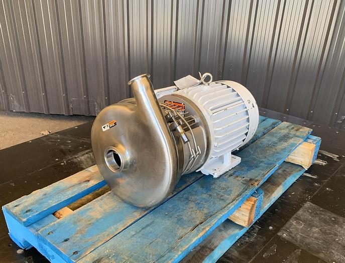 "Used USED TRI-FLO CENTRIFUGAL PUMP, 2"" X 1.5"", STAINLESS STEEL"