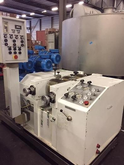 Used Duyvis Weiner lab scale 3 roll refiner