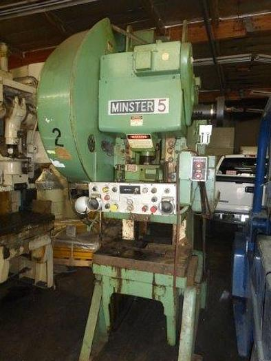 "Used 45 Ton, MINSTER #5, 3"" STROKE, 90 - 180 SPM, Air Clutch & Brake, 7.5 HP [3940]"