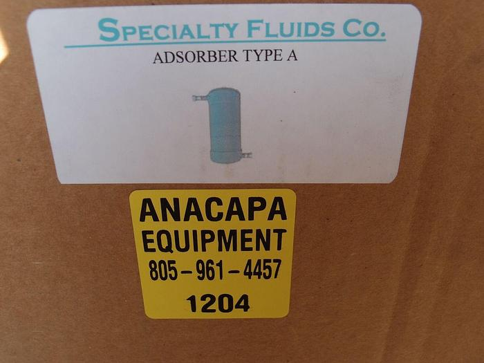Specialty Fluids CryoPump Compressor Helium Adsorber Filter Type A, New (1204)