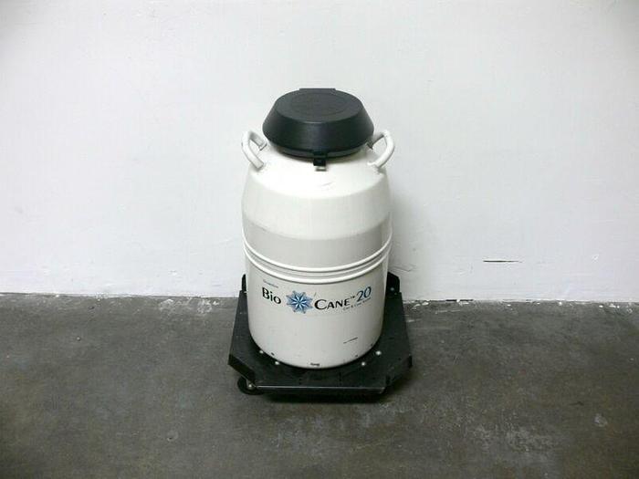 Used Thermolyne Bio-Cane 20 Can & Cane System Cryogenic Storage LN2 Dewar w/ Dolley