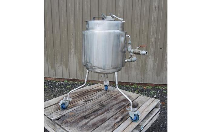 USED 13 GALLON JACKETED TANK, STAINLESS STEEL