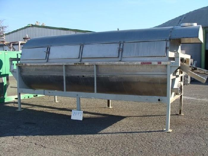 Used Hot Water Rotary Blancher 5' Diameter x 16' Long