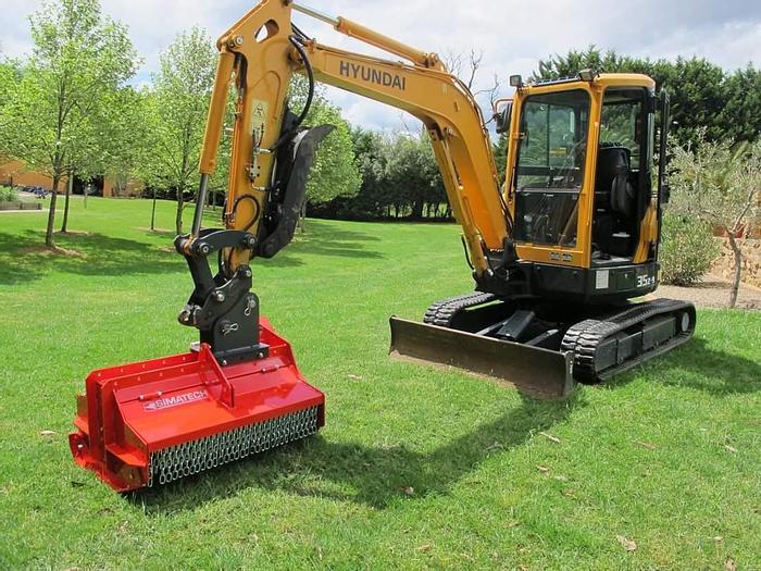 Mulching Heads for Mini excavators & skid steers