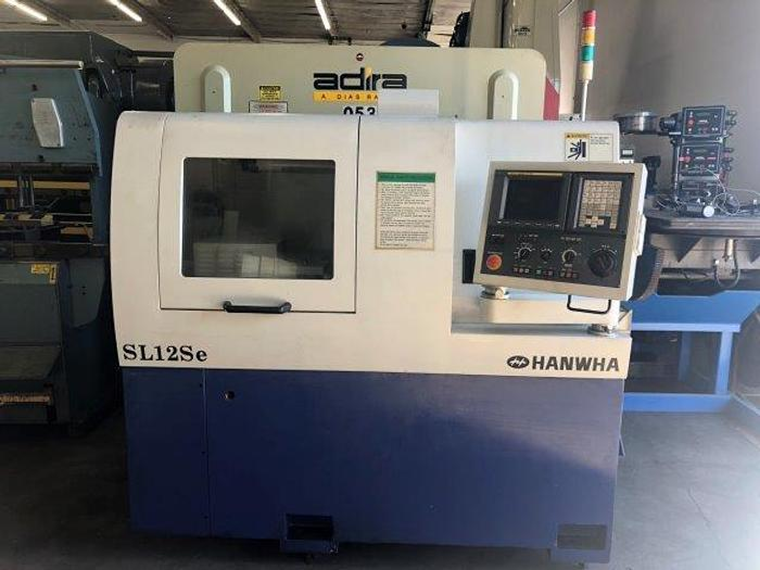 No. SL12SE, HANWHA, FANUC OI-TB, 2005, SWISS TYPE CNC SCREW MACHINE 12mm [5264]