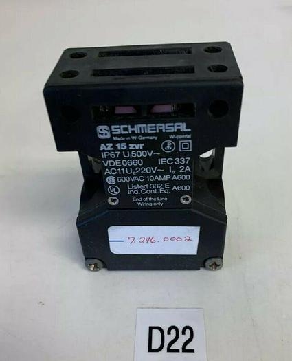 SCHMERSAL AZ15 ZVR VDE0660 IEC337 INTERLOCK SWITCH (AS PICTURED) *NEW NO BOX*