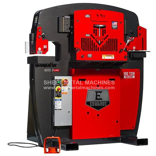 EDWARDS 100 Ton Deluxe Ironworker IW100DX