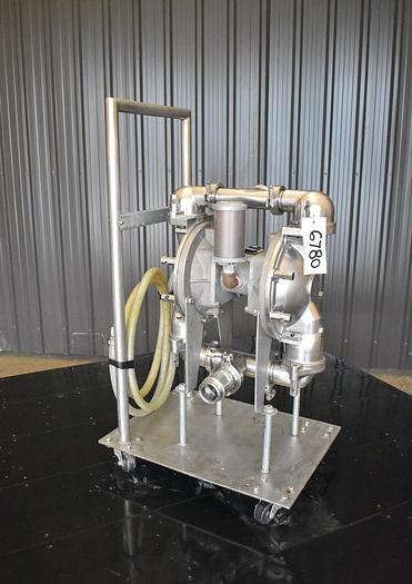 Used USED SANDPIPER DIAPHRAGM PUMP,  2.5'' X 2'' INLET & OUTLET, STAINLESS STEEL, SANITARY