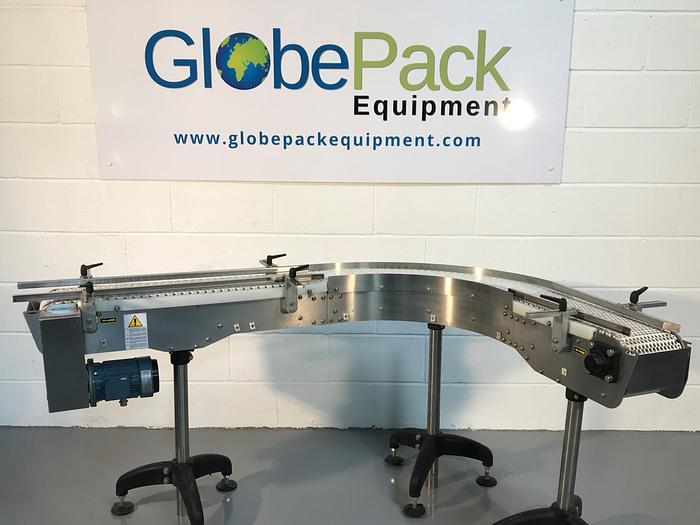 Used MORC 90degree slat conveyor