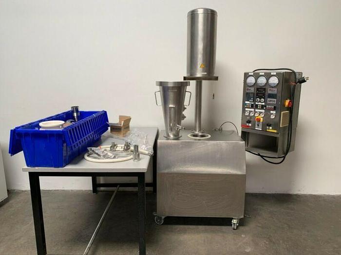 Used Glatt GPCG-1 Stainless Steel Constructed Fluid Bed Dryer Granulator 220V