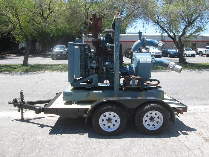 "Used 2011 Thompson 6"" Trash Pump with Trailer"