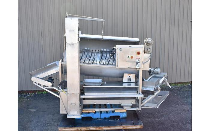 USED MOLINE DSM-1000 ''SUGAR TUMBLER'', WITH SCREW CONVEYOR, BLENDER & INFEED/OUTFEED CONVEYORS