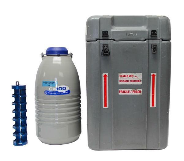 Used Taylor-Wharton CX100B-11M Cryogenic Liquid Nitrogen Shipper CP-111-065 (8067)w