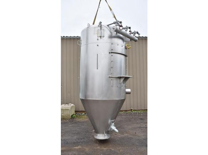 USED DUST COLLECTOR/SILO/RECEIVER, 20 CU. FT., STAINLESS STEEL, SANITARY, WITH ROTARY VALVE