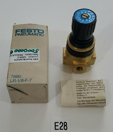 "*NEW IN BOX* Festo 7880 LR-1/8-F-7 Pneumatic Regulator 1/8"" + Warranty!"