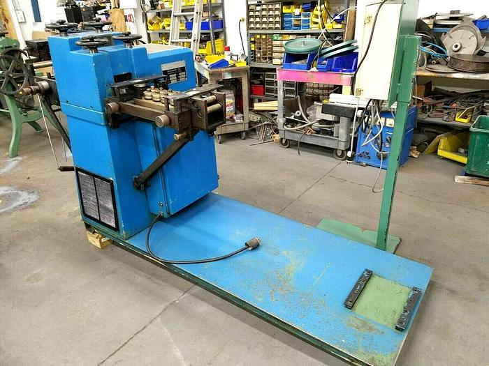 Used Stock Straightener Leveler 3 inch motorized material feed straighten camber