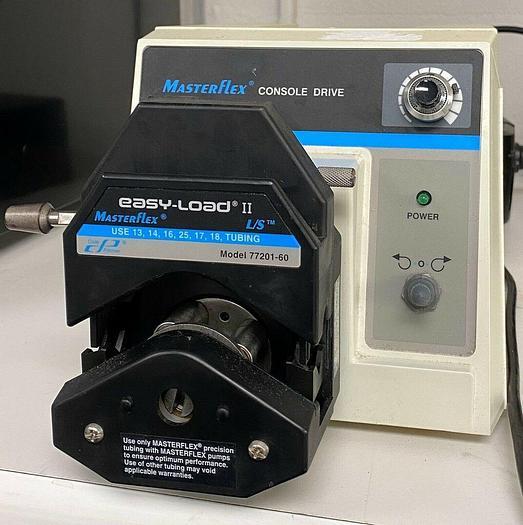 Used Cole Parmer MasterFlex 77521-50 Peristaltic Pump With Drive Pump Head 77201-60
