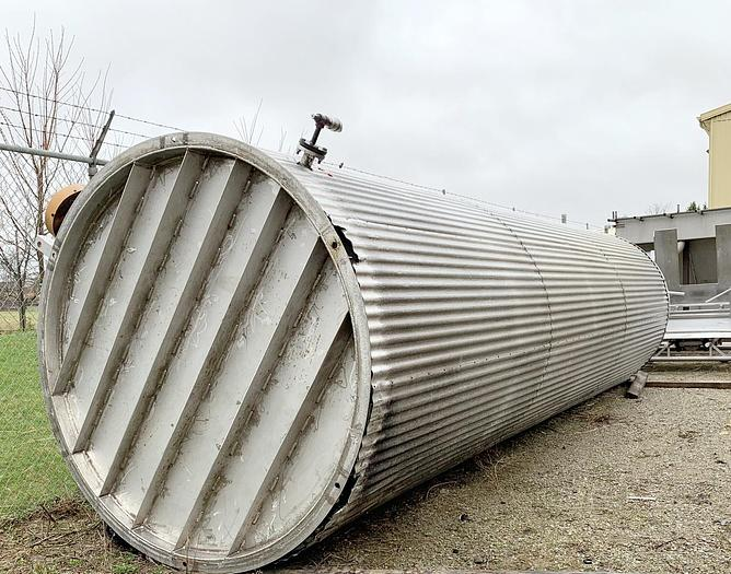 USED 8040 GALLON ''API 650'' STAINLESS STEEL, INSULATED WITH MIXER