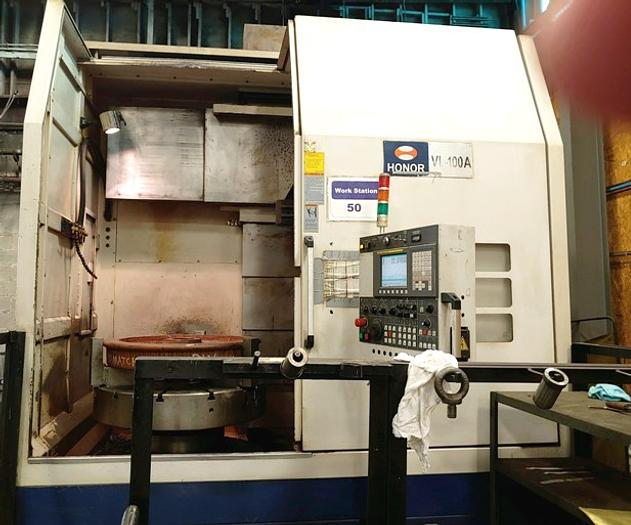 "Honor VL-100A CNC Vertical Lathe 52"" Swing, 40"" Hydraulic"
