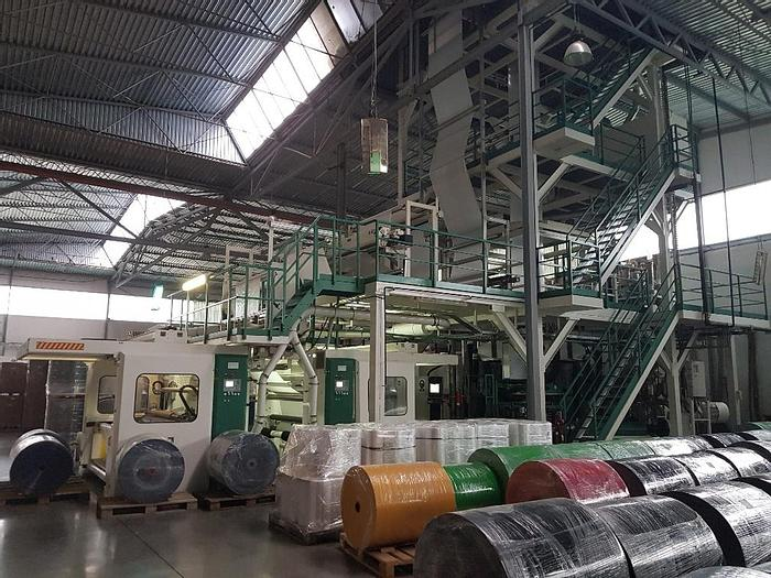Used KUHNE 5-LAYER BLOWN FILM COEX LINE