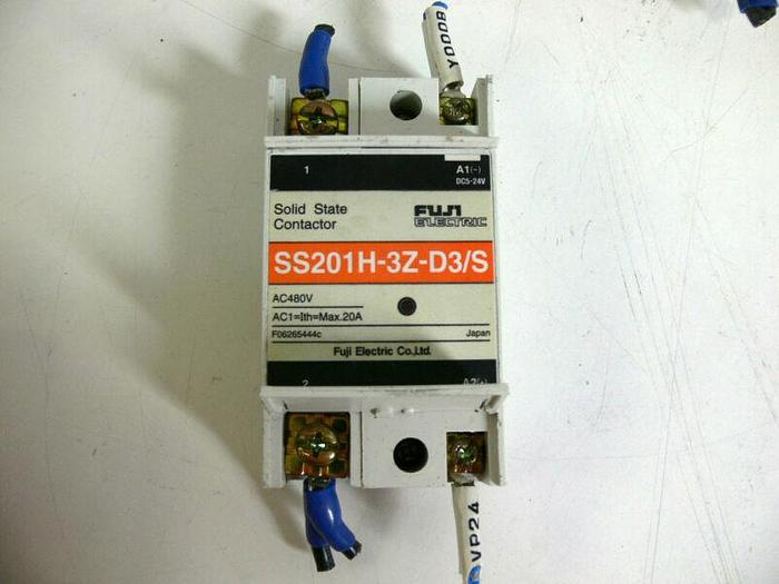 Used Lot of 5 - Fuji Electric SS201H-3Z-D3/S 480VAC Solid State Contactor