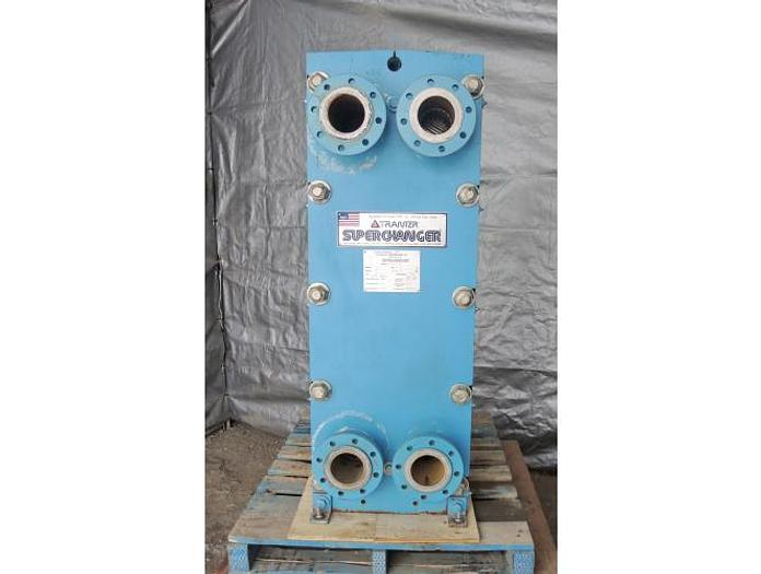 USED HEAT EXCHANGER, PLATE, 161.5 SQ. FT., STAINLESS STEEL