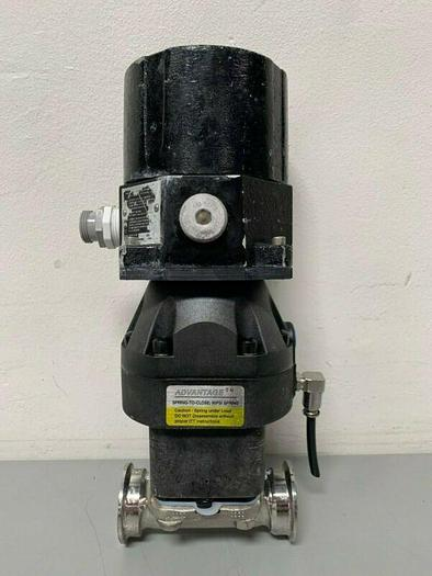 """Used ITT Pure-Flo A209 Stainless Steel 2-Way Diaphragm Valve w/ 2"""" Sanitary Fittings"""