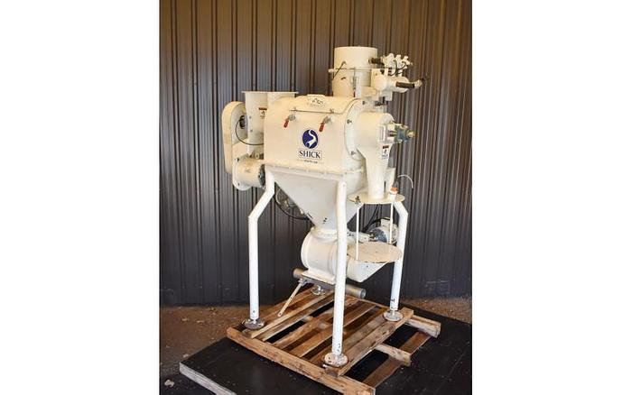 USED SHICK CENTRIFUGAL SIFTER, CARBON STEEL WITH ROTARY VALVE & DUST COLLECTOR