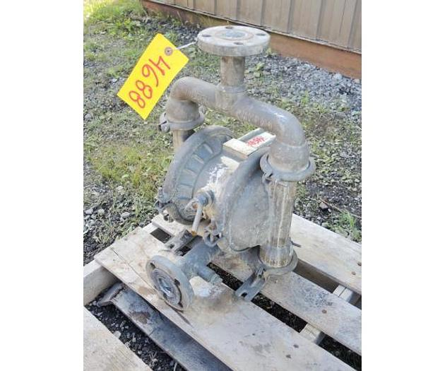 """USED DIAPHRAGM PUMP, 1.5"""" X 1.25"""" INLET & OUTLET, 316 STAINLESS STEEL"""