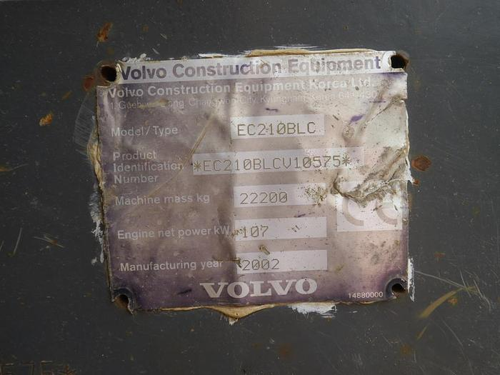 Volvo EC210BLC Excavator