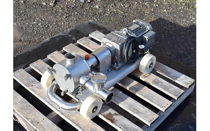 USED SINE POSITIVE DISPLACEMENT PUMP, MODEL EC 25, STAINLESS STEEL, SANITARY