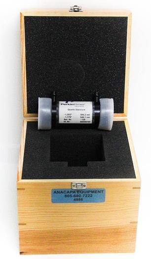 Used Perkin Elmer B0098799 Quartz Control Plate -1° @ 589NM Quartz Standard 4886