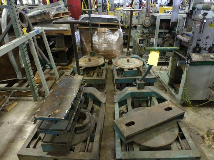Used LOT OF (4) HEAVY DUTY MACHINERY SKATES