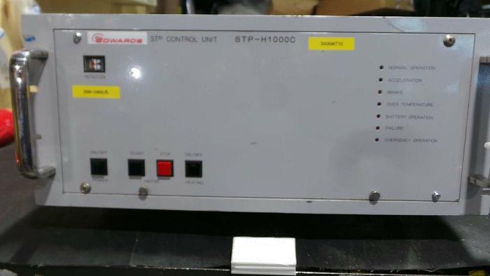 Used Edwards SCU-H1000C Controller, CU-H1000C / Turbo Molecular Pump Control Unit / AC 208V 2,600VA / 50~60Hz / 200~240V / STP- H1000C / Control Unit /