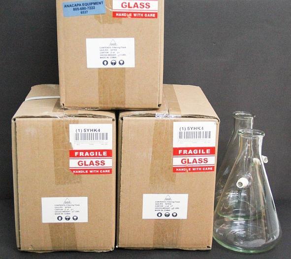 Grainger 5YHK4 1000mL 33.8 oz Filter Flask NEW LOT OF 6 (6537)