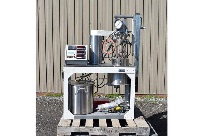 USED 3.75 LITER TANK (REACTOR), STAINLESS STEEL, ELECTRICALLY HEATED JACKET