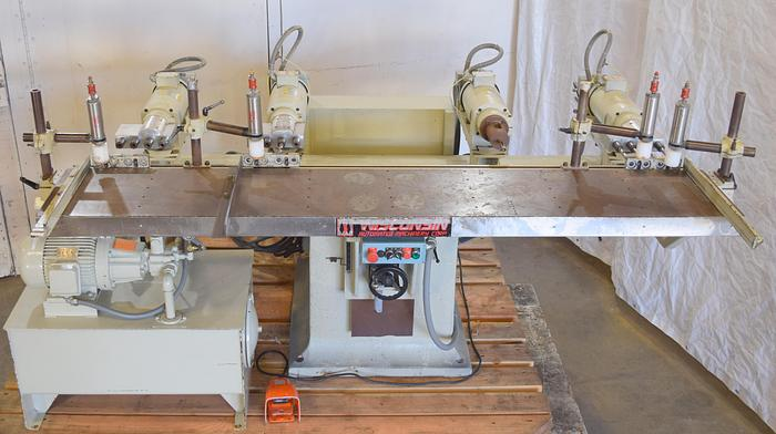 Used Wisconsin B20-M multiple spindle horizontal drilling machine