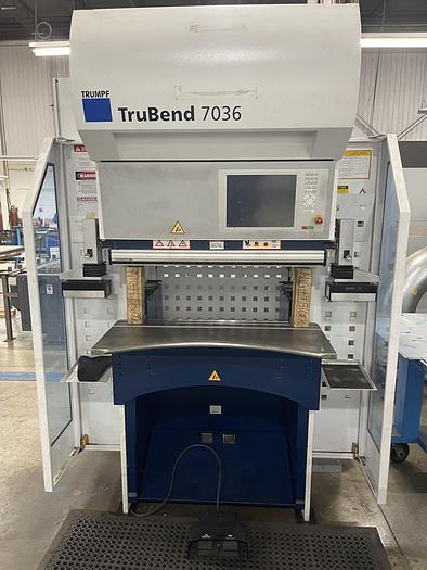 "Used 40 TON X 40"", TRUMPF, TRUBEND 7036 ELECTRIC CNC PRESS BRAKE, 2012"