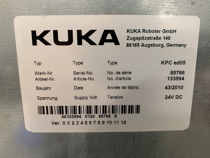 2010 KUKA KR 100-2 PA 4 AXIS PALETTIZING ROBOT W/KRC 2 ed05 CONTROLLER