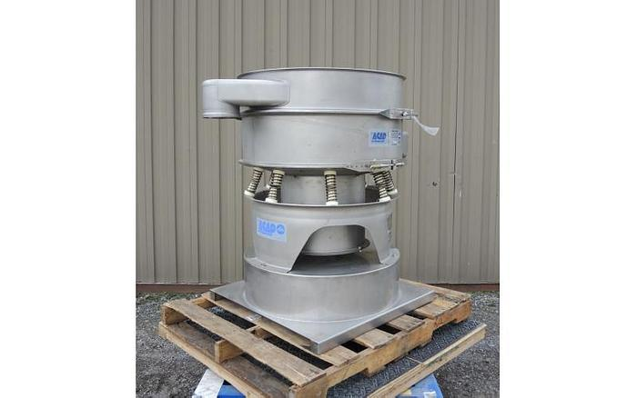 "USED SWECO SCREEN, 30"" DIAMETER, STAINLESS STEEL, SINGLE DECK, SANITARY"